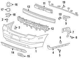 dodge charger oem parts parts com dodge fascia rear partnumber 68092608ab