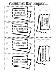 printable valentine love coupons coloring pages coloring pages