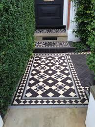 Exterior Tiles For Patios Black And White Tessellated Front Patio Tiles In Photos Google