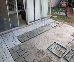 Brick Patio Diy Diy Driveway Paving Mould Brick Patio Concrete Slabs Path Garden