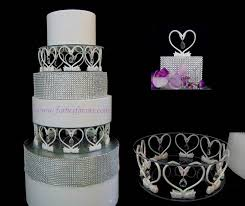 heart of a swan acrylic crystal cake stand with led light for