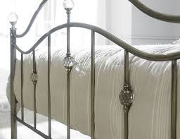 cygnus antique brass bedstead 5ft kingsize brass bed with crystals