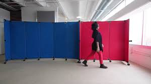 Movable Wall Partitions Building A Portable Wall With Folding Canvas Partitions Youtube
