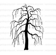 weeping willow tree vector clipart bare tree silhouette clip art
