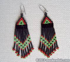 How To Make Jewelry Beads At Home - how to make beaded earrings with fringe