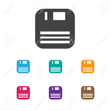 icon bureau vector illustration of bureau symbol on floppy disk icon premium