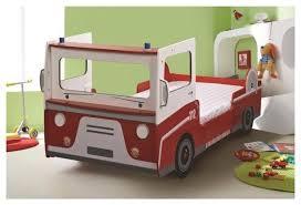 chambre pompier lit enfant complet 90x190 200 pompier couleur blanc