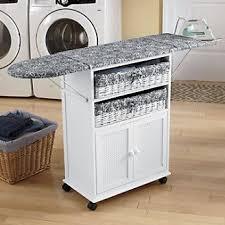 diy folding sewing table folding ironing board cabinet 2 basket cottage style ironing board