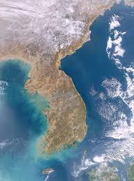 Satellite View Maps South And North Korea Satellite Image