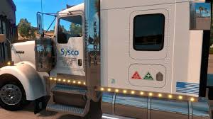 kenworth truck service uncle d logistics sysco food service kenworth w900 skin mod
