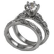 moissanite wedding sets moissanite rings and moissanite engagement wedding bands in 14k gold