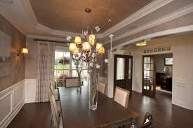 interior extraordinary tray ceiling design with decorative lamps