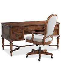 Home Office Desk Chairs Clinton Hill Cherry Home Office Furniture Collection Furniture