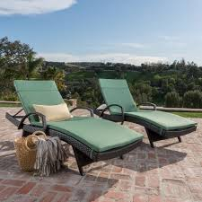 Chase Lounge Chairs Toscana Outdoor Wicker Armed Chaise Lounge Chair With Cushion By
