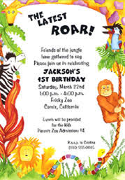 Jungle Birthday Card Jungle Birthday Party Invitations Vertabox Com