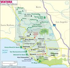 ventura county map ventura county map map of ventura county california