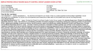 printed circuit board quality control group leader job title docs