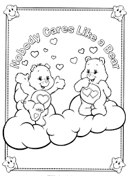 care bears coloring pages coloringsuite