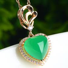 green heart pendant necklace images Wholesale ice jade jade pendant heart of yang fashion necklace jpg