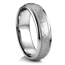 palladium wedding band parrish hammer finish palladium band artcarved men s wedding bands