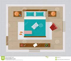 Plans For Bedroom Furniture Bedroom With Furniture Overhead Top View Stock Vector