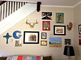 telling stories making memories gallery wall quite eclectic that fancy way saying mixture art and junk been spray painted also crooked has painting