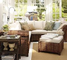 seagrass sectional ottoman pottery barn