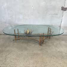 mid century silas seandel brutalist lotus coffee table