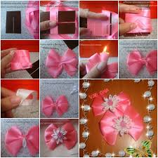flower bow how to make beginner flower bow step by step diy tutorial