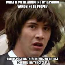 Fb Memes - what if we re annoying by bashing annoying fb people and by