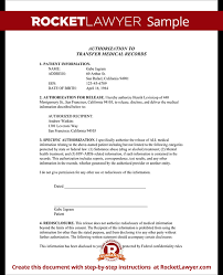 medical records transfer form transfer of medical records template
