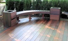 Trex Benches Custom Made Decks Using Cedar Composite Materials Brazilian