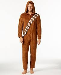 Sweater Pajamas Wars S Chewbacca Hooded One Pajamas From Briefly