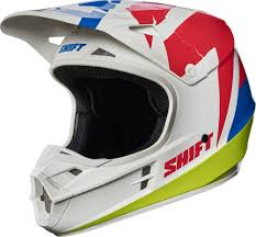 vintage motocross helmet shift mx white label tarmac mens off road dirt bike dot motocross