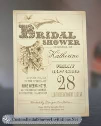 vintage bridal shower vintage bridal shower invitations custom bridal shower invitations