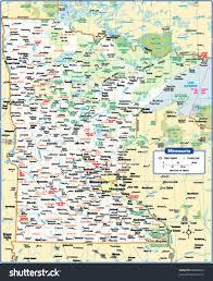 Minnesota Map Minnesota State Map Stock Vector 88090036 Shutterstock