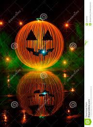 halloween pumpkin light painting stock photo image 53248108