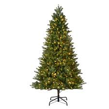 shop living 7 5 ft pre lit dover artificial tree