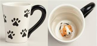 cool coffee mug amazon com surprise dog coffee mug with small puppy inside white