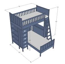 ana white cabin bunk system top bunk diy projects