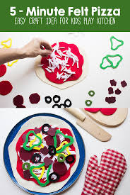5 minute felt pizza craft idea for kids play kitchen u2013 made it mommy