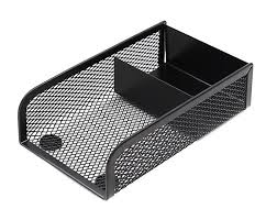 wire mesh desk organizer black metal mesh desktop post it note holder stand memo pad