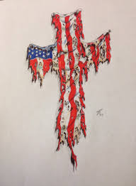 small american flag tattoos all images to american flag on cross tattoo red white u0026 blue