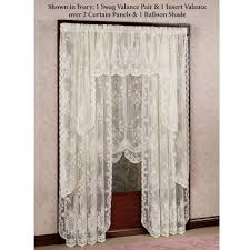 White Lace Shower Curtain by Lace Window Shades Homesfeed
