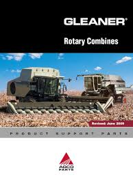 gleaner rotary combines agco parts machines mechanical