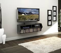 Modern Wall Mounted Entertainment Center Prepac Black Wall Mounted A V Console By Oj Commerce Bcaw 0200 1