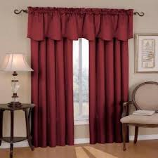 Purple Window Valances Eclipse Canova Blackout Burgundy Polyester Curtain Valance 21 In