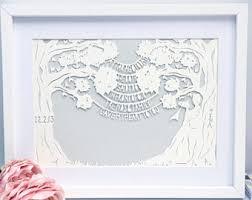 paper anniversary gift custom 1st anniversary gift for wedding anniversary