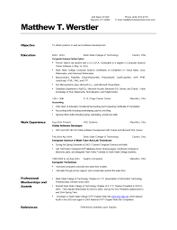 Graduate Internship Resume Computer Science Grad Resume Template