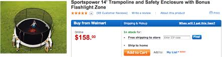 walmart black friday deal 14 troline for 158 00 out of stock
